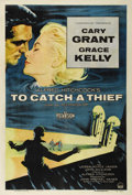"Movie Posters:Mystery, To Catch a Thief (Paramount, 1955). One Sheet (27"" X 41""). AlfredHitchcock's delightful caper film stars Cary Grant as form..."