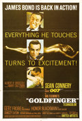 "Movie Posters:Action, Goldfinger (United Artists, 1964). One Sheet (27"" X 41""). One ofthe best-loved images from a highly-regarded film in the Ja..."