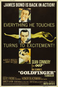 "Movie Posters:Action, Goldfinger (United Artists, 1964). Poster (40"" X 60""). Sean Conneryreturns for his third outing as Ian Fleming's Agent 007...."