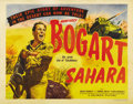 """Movie Posters:War, Sahara (Columbia, 1943). Half Sheet (22"""" X 28""""). Style A. HumphreyBogart leads a tank unit in this WWII film directed by Zo..."""