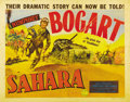 "Movie Posters:War, Sahara (Columbia, 1943). Half Sheet (22"" X 28""). Style B. HumphreyBogart has a great character name -- Sergeant Joe Gunn --..."