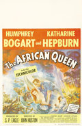 "Movie Posters:Adventure, The African Queen (United Artists, 1952). Window Card (14"" X 22"").This window card features beautiful artwork of Humphrey B..."
