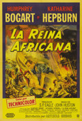 "Movie Posters:Adventure, The African Queen (United Artists, 1952). Argentinian One Sheet (29"" X43""). This poster offers the alternative to the Americ..."