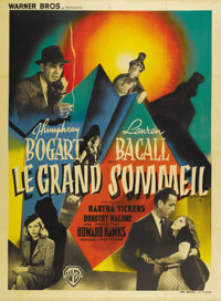 "The Big Sleep (Warner Brothers, 1946). French Grande (47"" X 63""). This classic Howard Hawks mystery/thriller w..."