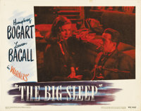 "The Big Sleep (Warner Brothers, 1946). Lobby Card (11"" X 14""). The #2 card from the set shows a beautiful 3/4..."