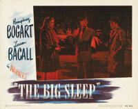 """The Big Sleep (Warner Brothers, 1946). Lobby Card. (11"""" X 14""""). The #8 card shows Bogie rescuing Bacall from t..."""