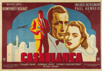 """Casablanca (Warner Brothers, 1942). French Poster (63"""" X 90""""). This outstanding larger sized French poster is..."""