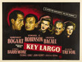 "Movie Posters:Film Noir, Key Largo (Warner Brothers, 1948). British Quad (30"" X 40""). This original British quad features marvelous dark, moody image..."