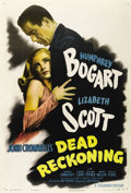 "Movie Posters:Film Noir, Dead Reckoning (Columbia, 1947). One Sheet (27"" X 41"") Style B.Humphrey Bogart comes back from WWII and finds himself drawn..."