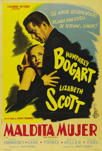 "Dead Reckoning (Columbia, 1947). Argentinian One Sheet (29"" X 43""). This poster is patterned after the famous..."