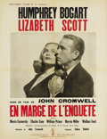 """Movie Posters:Film Noir, Dead Reckoning (Columbia, 1947). French Poster (19.5"""" X 25.5""""). This French poster (smaller than a Petite) has light corner ..."""