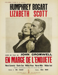 "Dead Reckoning (Columbia, 1947). French Poster (19.5"" X 25.5""). This French poster (smaller than a Petite) has..."