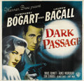 "Movie Posters:Film Noir, Dark Passage (Warner Brothers, 1947). Six Sheet (81"" X 81""). Humphrey Bogart and Lauren Bacall were cast together in this un..."