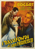 "Movie Posters:Film Noir, Knock on Any Door (Columbia, 1949). Italian 4 - Folio (55"" X 78"").Italian artist Anselmo Ballester does it again in his dyn..."