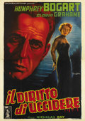 "Movie Posters:Film Noir, In a Lonely Place (Columbia, 1950). Italian 4 - Folio (55"" X 78""). Master Italian artist Anselmo Ballester produced some of ..."