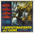 "Movie Posters:War, The Caine Mutiny (Columbia, 1954). Italian 6 - Folio (78"" X 81"").The only known copy of this outstanding Italian 6 - folio ..."