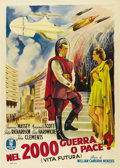 """Movie Posters:Science Fiction, Things to Come (United Artists, R-1953). Italian 2 - Folio (39"""" X55""""). Based on H.G. Wells' prognosticative 1933 essay """"The..."""