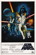 "Movie Posters:Science Fiction, Star Wars (20th Century Fox, 1977). One Sheet (27"" X 41"") Style C.The dynamic style C one sheet for ""Star Wars"" has been re..."
