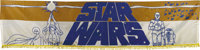 """Star Wars (20th Century Fox, 1977). Silk-Screen Banner (26"""" X 104""""). This is one of the scarcest items to be f..."""