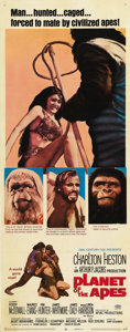 "Movie Posters:Science Fiction, Planet of the Apes (20th Century Fox, 1968). Insert (14"" X 36"").This insert size poster is rare for this classic science fi..."