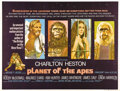 "Movie Posters:Science Fiction, Planet of the Apes (20th Century Fox, 1968). British Quad (30"" X40""). Pierre Boulle's novel of an upside down world ruled b..."
