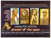 """Planet of the Apes (20th Century Fox, 1968). British Quad (30"""" X 40""""). Pierre Boulle's novel of an upside down..."""