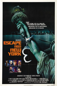"""Escape from New York (AVCO Embassy Pictures, 1981). One Sheet (27"""" X 41"""") Advance. In a future world where Man..."""