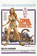 "Movie Posters:Science Fiction, One Million Years B.C. (20th Century Fox, 1966). One Sheet (27"" X 41""). One of the iconic pinup images of the 1960's is repr..."
