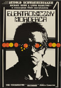 """Movie Posters:Science Fiction, The Terminator (Orion, 1984). Polish Poster (26"""" X 38""""). ArnoldSchwarzenegger stars in the most famous role in his career, ..."""