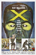 """Movie Posters:Science Fiction, X: The Man with the X-Ray Eyes (AIP, 1963). One Sheet (27"""" X 41"""").Ray Milland stars as a scientist whose experiment with en..."""