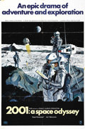 """Movie Posters:Science Fiction, 2001: A Space Odyssey (MGM, 1968). One Sheet (27"""" X 41"""") Style B. This is the """"Moonbase"""" 70 MM Roadshow style for the ground..."""
