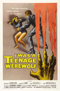 """Movie Posters:Horror, I Was a Teenage Werewolf (AIP, 1957). One Sheet (27"""" X 41""""). This was the 1950s horror film that kicked off the whole run of..."""
