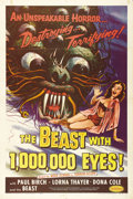 "Movie Posters:Science Fiction, The Beast with 1,000,000 Eyes! (American Releasing Corp., 1955).One Sheet (27"" X 41""). One of the most incredibly frighteni..."