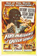 "Movie Posters:Science Fiction, Fire Maidens From Outer Space (Topaz Film, 1956). One Sheet (27"" X41""). A group of astronauts led by Anthony Dexter lands o..."
