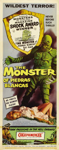 "Movie Posters:Horror, The Monster of Piedras Blancas (Film Service Distributing, 1959).Insert (14"" X 36""). A great creature shot is the focus of ..."