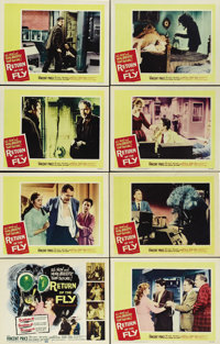 "Return of the Fly (20th Century Fox, 1959). Lobby Card Set of 8 (11"" X 14""). Brett Halsey, the son of Al Hedis..."
