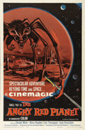 "Movie Posters:Science Fiction, The Angry Red Planet (American International, 1960). One Sheet (27""X 41""). Campy sci-fi film about astronauts who escape th..."