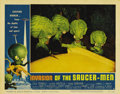 "Movie Posters:Science Fiction, Invasion of the Saucer-Men (American International, 1957). LobbyCards (2) (11"" X 14""). Created by monster maker Paul Blaisd...(Total: 2 Items)"