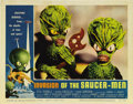 "Movie Posters:Science Fiction, Invasion of the Saucer-Men (American International, 1957). LobbyCard (11"" X 14""). Probably the best card in the set, this c..."