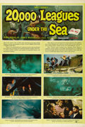 "Movie Posters:Science Fiction, 20,000 Leagues Under the Sea (Buena Vista, 1954). One Sheet (27"" X41"") Style B. The first Disney film shot in Cinemascope w..."