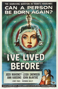 """I've Lived Before (Universal International, 1956). One Sheet (27"""" X 41""""). Inspired by the Bridey Murphy reinca..."""