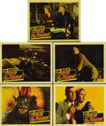 """Movie Posters:Horror, Curse of the Demon (Columbia, 1957). Lobby Cards (5) (11"""" X 14"""").Jacques Tourneur directs Dana Andrews and Peggy Cummins in...(Total: 5 Items)"""
