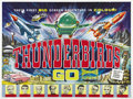 "Movie Posters:Science Fiction, Thunderbirds Are Go (United Artists, 1966). British Quad (30"" X40""). This sci-fi film shot in ""Supermarionation"" is taken f..."