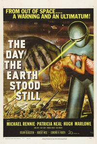 """The Day the Earth Stood Still (20th Century Fox, 1951). One Sheet (27"""" X 41""""). Robert Wise's classic science f..."""