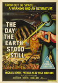 "Movie Posters:Science Fiction, The Day the Earth Stood Still (20th Century Fox, 1951). AustralianOne Sheet (27"" X 40""). Among the very best of 50s sci-fi,..."