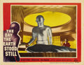 "Movie Posters:Science Fiction, The Day the Earth Stood Still (20th Century Fox, 1951). Lobby Card(11"" X 14""). The # 3 card from the set. A great ""Gort"" ca..."