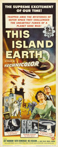 """Movie Posters:Science Fiction, This Island Earth (Universal, 1955). Insert (14"""" X 36 """"). Aliensfrom the planet Metaluna recruit engineers and scientists f..."""