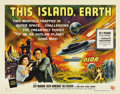 "Movie Posters:Science Fiction, This Island Earth (Universal, 1955). Half Sheet (22"" X 28"") StyleB. Gorgeous artwork makes this poster, for one of the clas..."