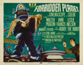 "Movie Posters:Science Fiction, Forbidden Planet (Loews - MGM, 1956). Title Lobby Card (11"" X 14"").""). This film was MGM's first big-budget science fiction..."