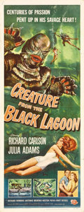 "Movie Posters:Horror, Creature From the Black Lagoon (Universal International, 1954). Insert (14"" X 36""). The last of the great Universal monsters..."